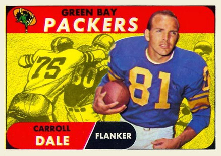 1968 Topps Carroll Dale #27 Football Card