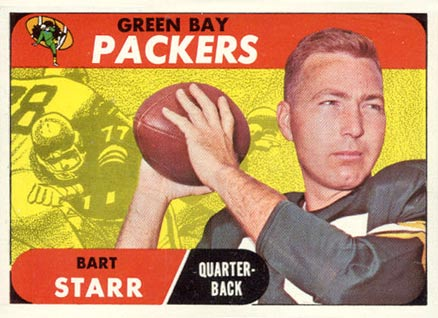 1968 Topps Bart Starr #1 Football Card