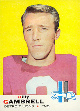 1969 Topps Billy Gambrell #101 Football Card