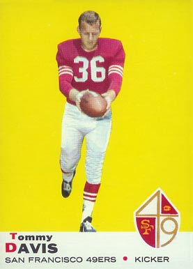 1969 Topps Timmy Davis #22 Football Card