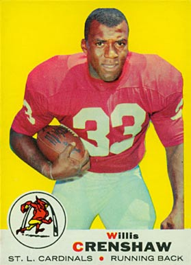 1969 Topps Willis Crenshaw #21 Football Card