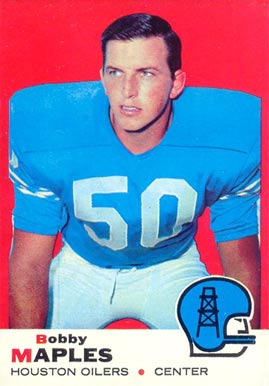 1969 Topps Bobby Maples #19 Football Card