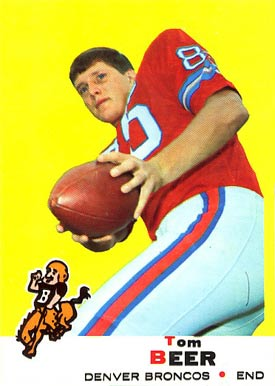 1969 Topps Tom Beer #18 Football Card