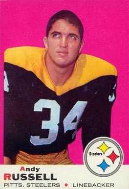 1969 Topps Andy Russell #17 Football Card