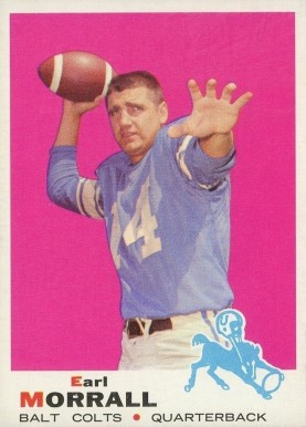 1969 Topps Earl Morrall #250 Football Card