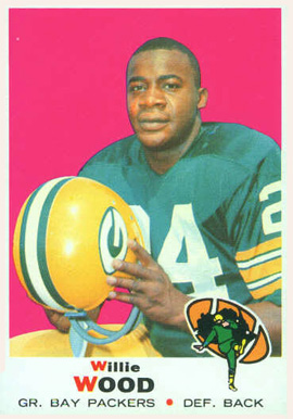1969 Topps Willie Wood #168 Football Card