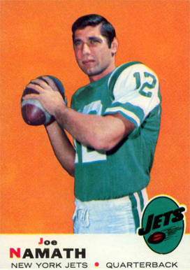 1969 Topps Joe Namath #100 Football Card
