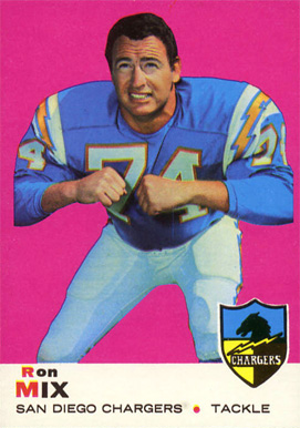 1969 Topps Ron Mix #99 Football Card