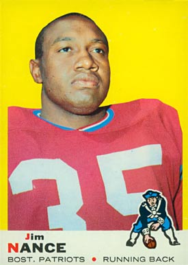 1969 Topps Jim Nance #70 Football Card