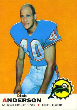 1969 Topps Dick Anderson #59 Football Card