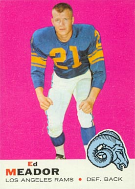 1969 Topps Ed Meador #56 Football Card