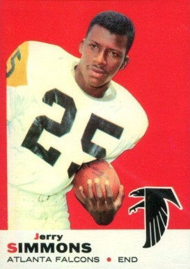 1969 Topps Jerry Simmons #24 Football Card