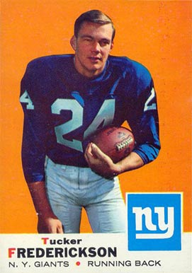 1969 Topps Tucker Frederickson #15 Football Card