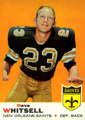 1969 Topps Dave Whitsell #14 Football Card
