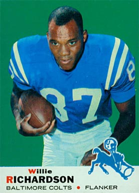 1969 Topps Willie Richardson #5 Football Card