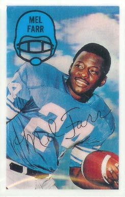 1970 Kellogg's Mel Farr #22 Football Card