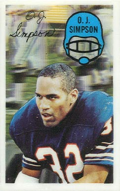 1970 Kellogg's O.J. Simpson #48 Football Card