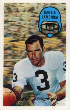 1970 Kellogg's Daryle Lamonica #47 Football Card