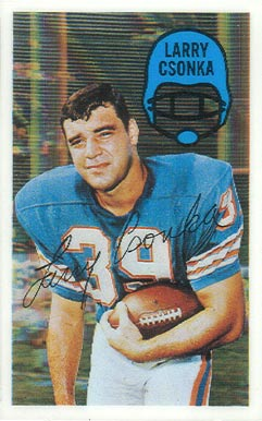 1970 Kellogg's Larry Csonka #41 Football Card