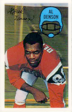 1970 Kellogg's Al Denson #18 Football Card