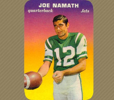 1970 Topps Super Glossy Joe Namath #29 Football Card
