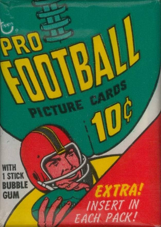 1970 Topps Wax Pack #WP Football Card
