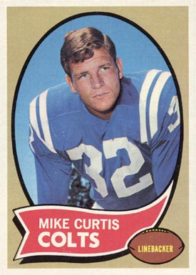 1970 Topps Mike Curtis #201 Football Card