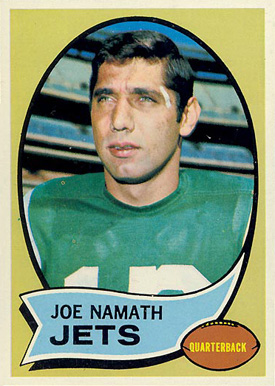 1970 Topps Joe Namath #150 Football Card