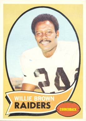 1970 Topps Willie Brown #144 Football Card