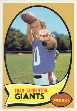 1970 Topps Fran Tarkenton #80 Football Card
