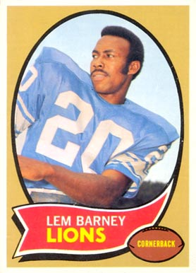 1970 Topps Lem Barney #75 Football Card