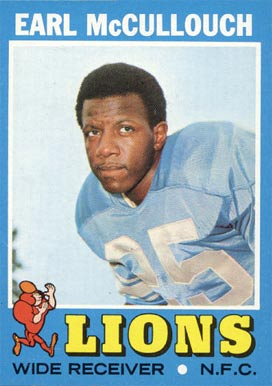 1971 Topps Earl McCullouch #127 Football Card