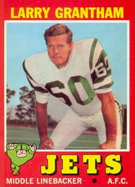 1971 Topps Larry Grantham #228 Football Card
