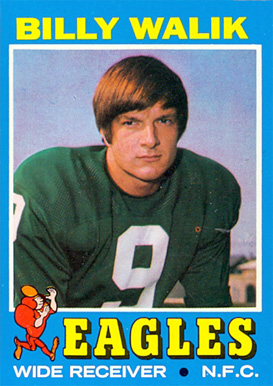 1971 Topps Billy Walik #23 Football Card