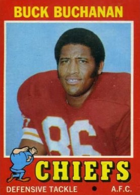 1971 Topps Buck Buchanan #13 Football Card