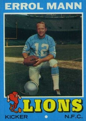 1971 Topps Errol Mann #247 Football Card