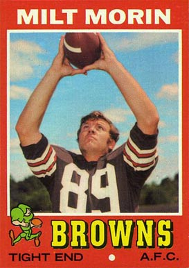 1971 Topps Milt Morin #249 Football Card