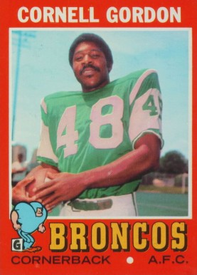 1971 Topps Cornell Gordon #256 Football Card