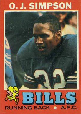 1971 Topps O.J. Simpson #260 Football Card