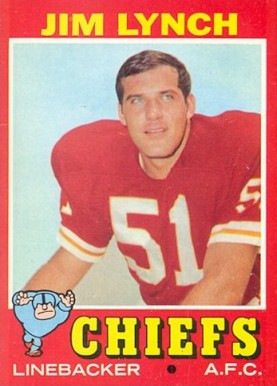 1971 Topps Jim Lynch #232 Football Card