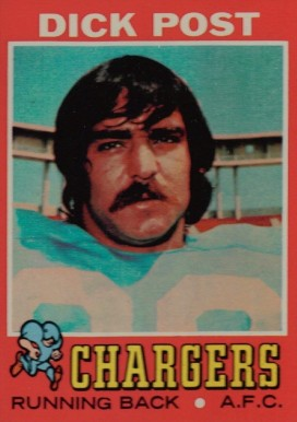 1971 Topps Dick Post #229 Football Card