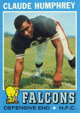 1971 Topps Claude Humphrey #218 Football Card
