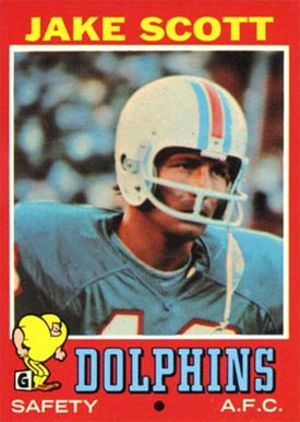 1971 Topps Jake Scott #211 Football Card