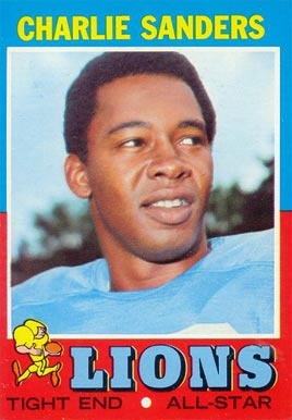 1971 Topps Charlie Sanders #210 Football Card