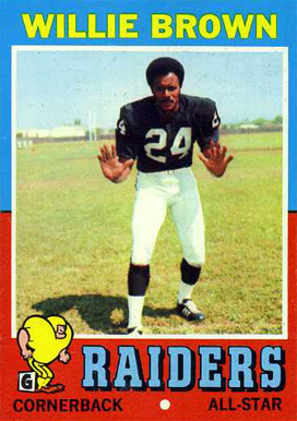 1971 Topps Willie Brown #207 Football Card