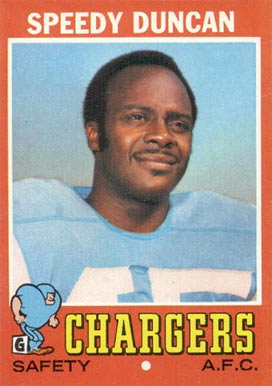 1971 Topps Speedy Duncan #148 Football Card