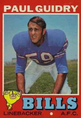 1971 Topps Paul Guidry #138 Football Card