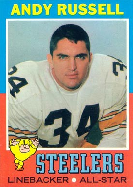 1971 Topps Andy Russell #132 Football Card