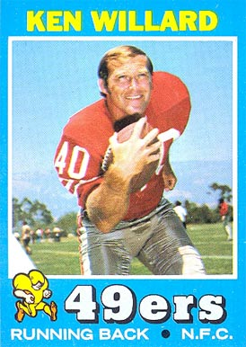 1971 Topps Ken Willard #129 Football Card