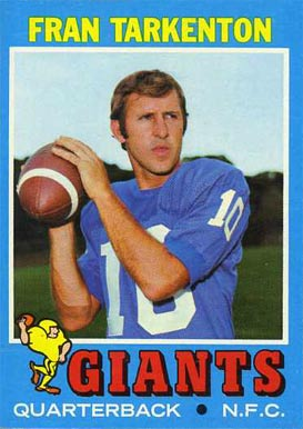 1971 Topps Fran Tarkenton #120 Football Card
